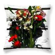 Flowers For My Petal Throw Pillow