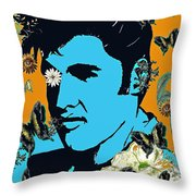 Flowers For The King Of Rock And Roll Throw Pillow