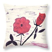 Flowers For Tonya And Myrtle Throw Pillow