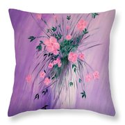 Flowers From The Field Throw Pillow