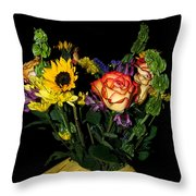 Flowers From The Heart Throw Pillow