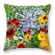 Flowers Galore 2 Throw Pillow