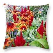 Flowers Galore Throw Pillow