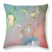 Flowers Ghosts Throw Pillow