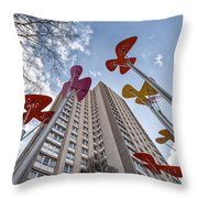 Flowers Glasgow Throw Pillow