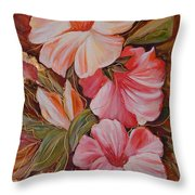Flowers II Throw Pillow