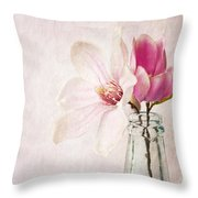 Flowers In A Bottle Throw Pillow