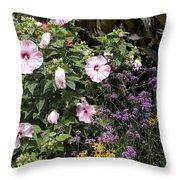 Flowers In A Garden Throw Pillow