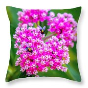 Flowers In A Purple Heart Throw Pillow