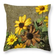 Flowers In Fall 1 Throw Pillow