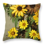 Flowers In Fall 2 Throw Pillow