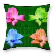 Flowers In Ireland Throw Pillow