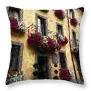 Flowers In Lazio Throw Pillow