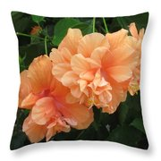 Flowers In Peach Throw Pillow
