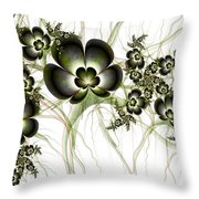 Flowers In The Antique Look Throw Pillow