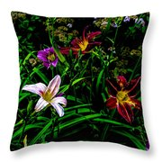 Flowers In The Garden 2 Throw Pillow