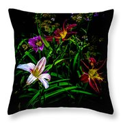 Flowers In The Garden Throw Pillow