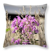 Flowers In The Grass 8891 Throw Pillow