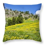 Flowers In The Park Throw Pillow