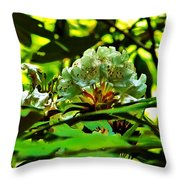 Flowers In The Woods Throw Pillow