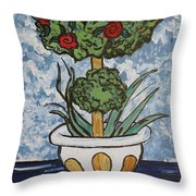 Flowers In Vase Throw Pillow