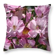 Flowers- Mass Roses Throw Pillow