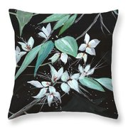 Flowers N Petals Throw Pillow
