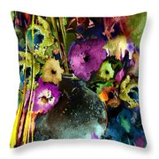 Flowers Night Party Throw Pillow