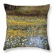 Flowers Of The Billabong Throw Pillow