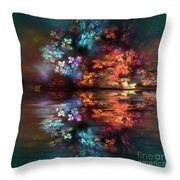 Flowers Of The Night Throw Pillow