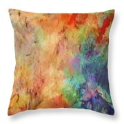 Flowers On Canvas Throw Pillow