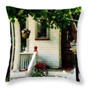 Flowers On Steps Throw Pillow