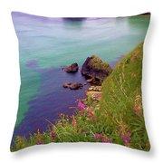 Flowers On The Coast Throw Pillow