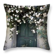 Flowers On The Door Throw Pillow