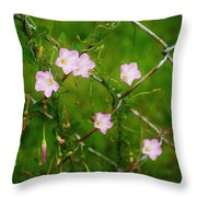 Flowers... On The Fence Throw Pillow