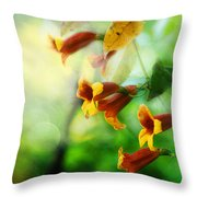 Flowers On The Vine Throw Pillow