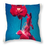 Flowers On Watercolor Paper Throw Pillow