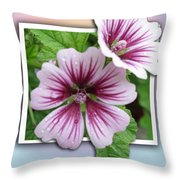 Flowers Out Of Bounds Throw Pillow