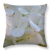 Snowball Flowers Throw Pillow