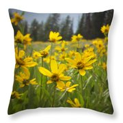 Flowers That Are Wild Throw Pillow