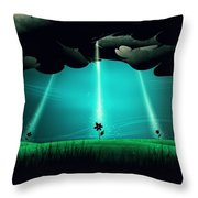 Flowers Under The Clouds Throw Pillow by Gianfranco Weiss