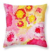 Flowers Vii Throw Pillow
