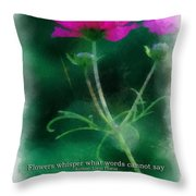 Flowers Whisper 01 Throw Pillow