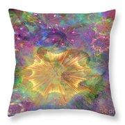 Flowerworks - Square Version Throw Pillow