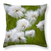 Flowery Cotton Throw Pillow