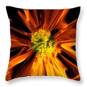 Flowery Flames Throw Pillow