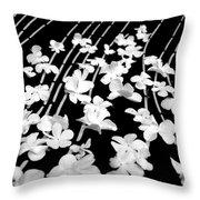 Flowery Flow Throw Pillow