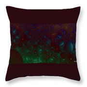 Flowery Night Sky Throw Pillow