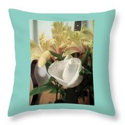 Flowery Notes Throw Pillow
