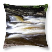 Flowing And Cascading At The Falls Of Dochart - Killin Scotland Throw Pillow